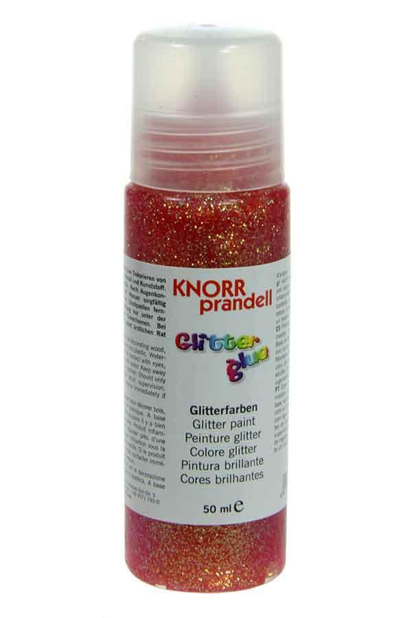 Κόλλα glitter Knorr prandell πορτοκαλί ιριδίζουσα 50ml 218099011