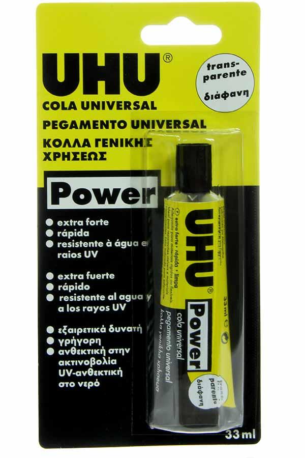 Κόλλα ρευστή UHU power 33ml 43910