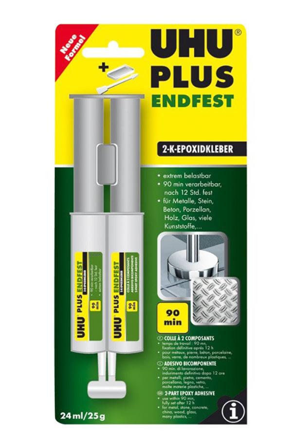 Κόλλα ρευστή εποξειδική δύο συστατικών UHU Plus Endfest 24ml 39845