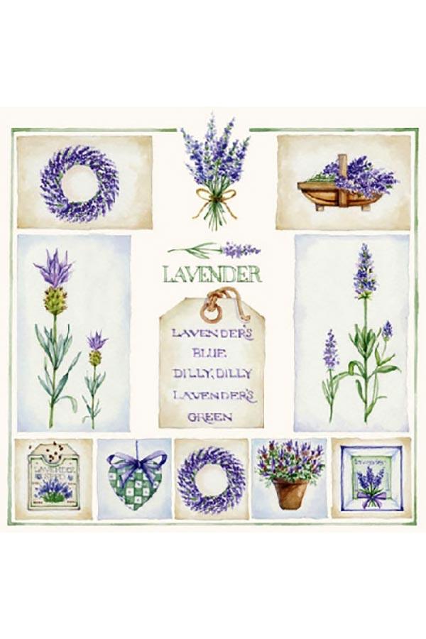 Χαρτοπετσέτα Decoupage Ambiente 25x25 1τμχ Lavender΄s 13306320