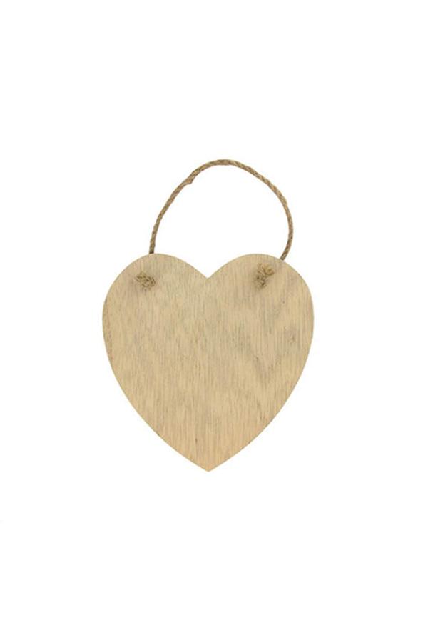 Πινακίδα ξύλινη καρδιά 14x14cm Artemio 14001317