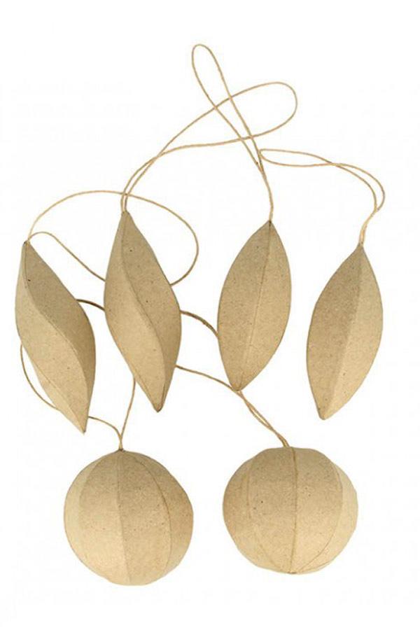 Χριστουγεννιάτικες μπάλες papier mache 6τμχ  Artemio 14030124