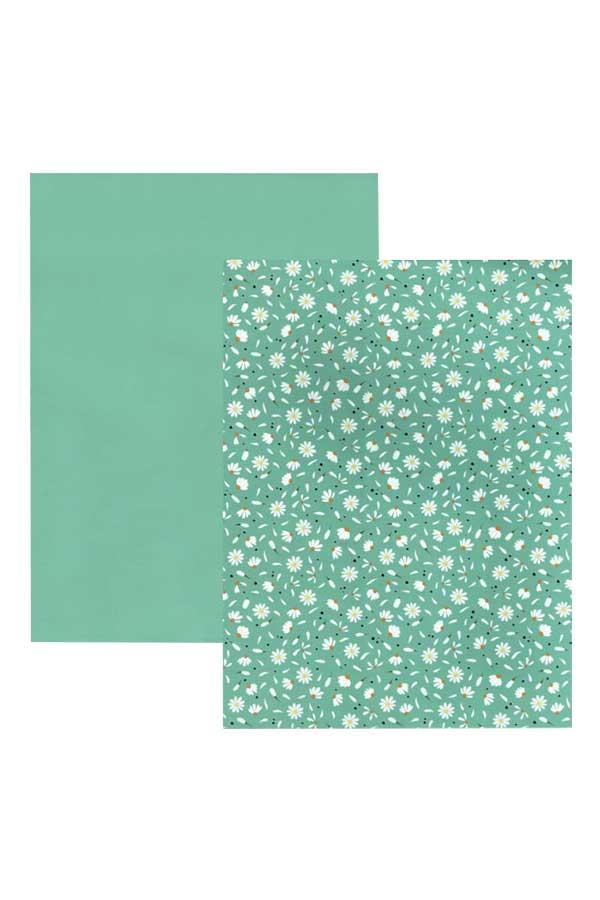 Χαρτόνι 21x30 τυπωμένο Daisy mint HEYDA 20-4772761