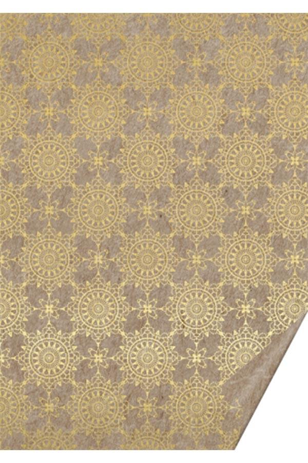 Χαρτόνι 50x70 μπεζ με χρυσά σχέδια Ornement gold HEYDA 204772237