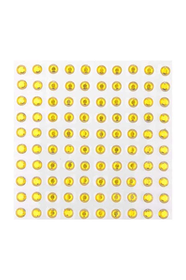 Στρας αυτοκόλλητα 100τεμ I-MONDI χρυσό 10801009