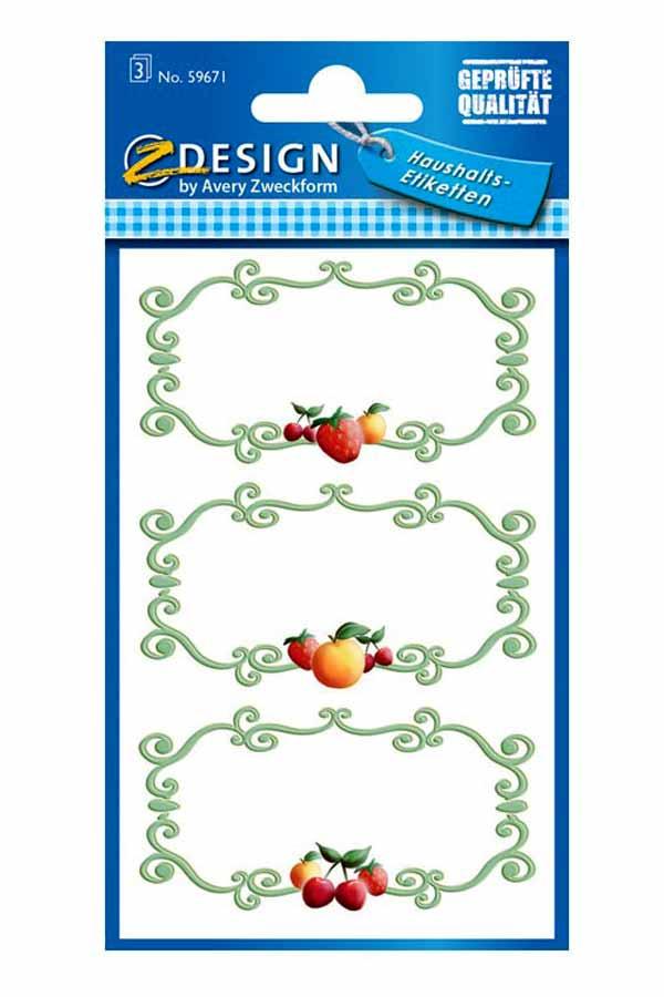 Ετικέτες αυτοκόλλητες Avery φρούτα 59671