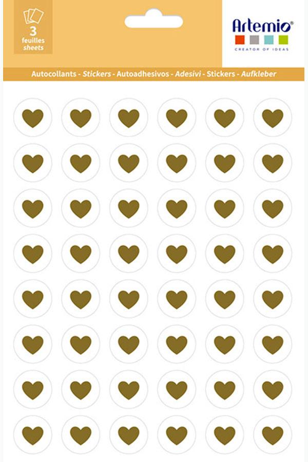 Αυτοκόλλητα χρυσές καρδιές Artemio 11040013