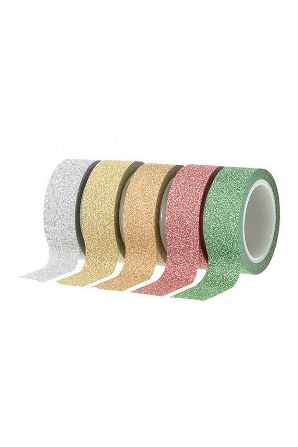 Διακοσμητική ταινία αυτοκόλλητη glitter Artemio ασημί 11004443