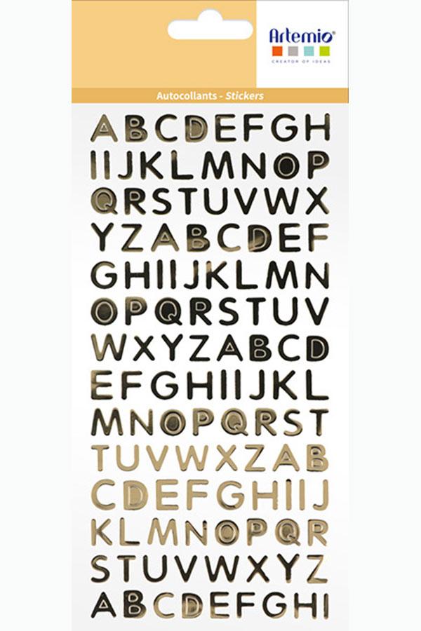 Αυτοκόλλητα κεφαλαία γράμματα χρυσά Artemio 11040039