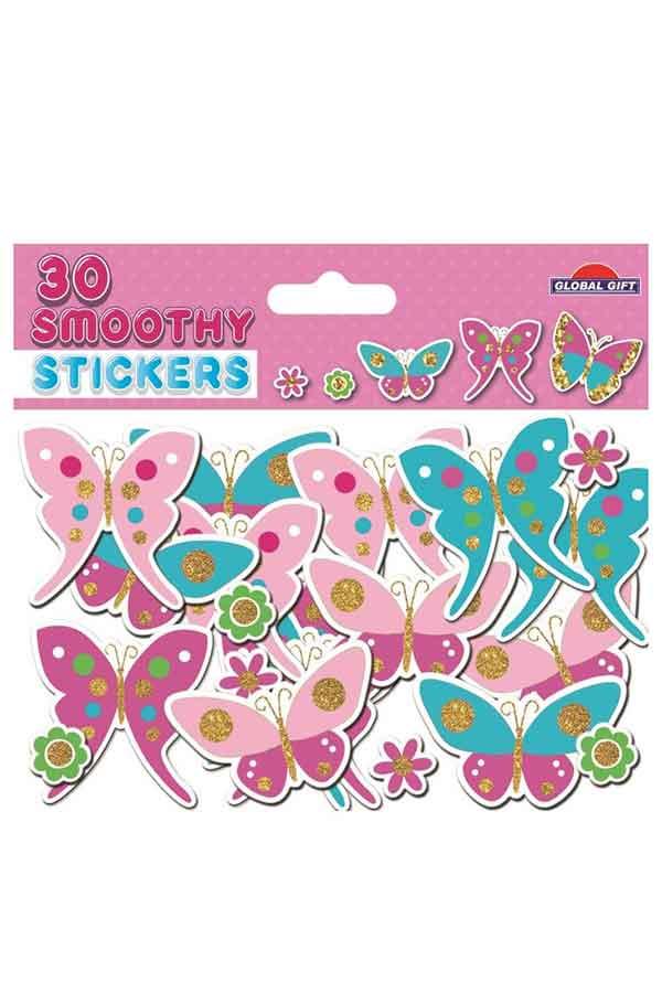 Αυτοκόλλητα αφρώδη πεταλούδες και λουλούδια Global gift 290102