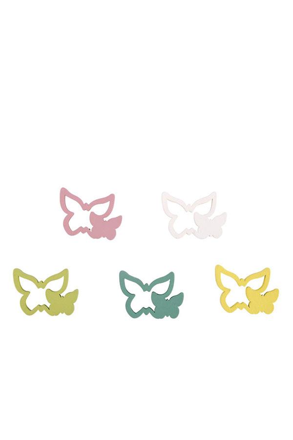 Ξύλινα διακοσμητικά 15τμχ Πεταλούδες Rayher 46469000