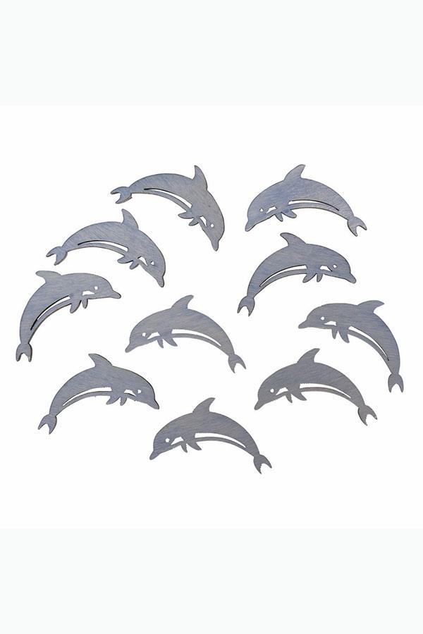 Ξύλινα διακοσμητικά 10τμχ Δελφίνια Rayher 46000000