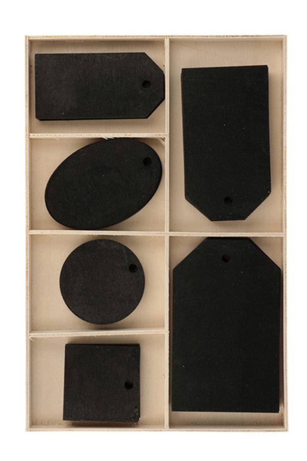 Ετικέτες μαυροπίνακα ξύλινες 36 τεμ. Artemio 14002774