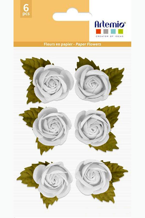 Λουλούδια χάρτινα λευκά 6 τεμ. Artemio 11060736