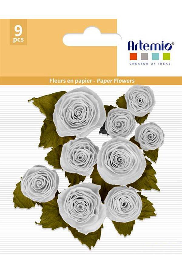 Λουλούδια χάρτινα λευκά 9 τεμ. Artemio 11060737