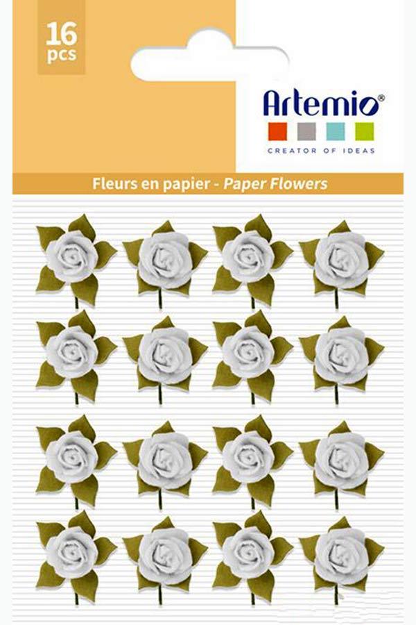 Λουλούδια χάρτινα λευκά 16 τεμ. Artemio 11060735