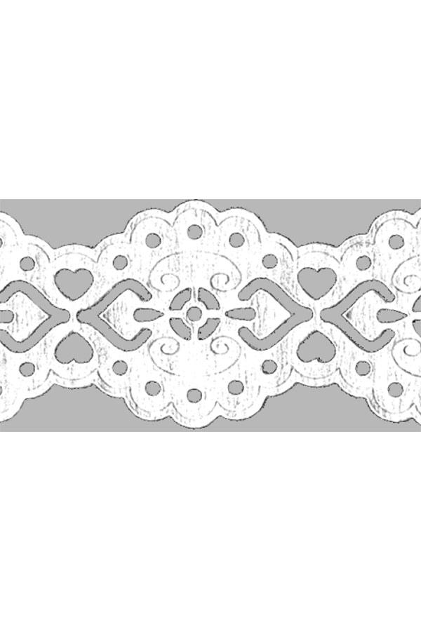 Δαντέλα αυτοκόλλητη λευκή 200cm HEYDA 204880086