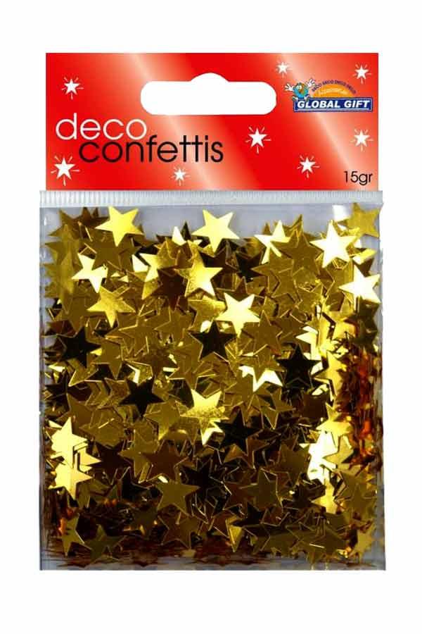 Πούλιες αστέρια χρυσά Global gift 15gr 360001