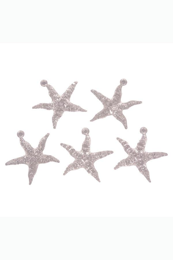 Αστερίες ακρυλικοί κρεμαστοί 5τμχ Rayher 46011000