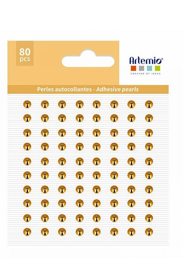 Πέρλες αυτοκόλλητες 64 τεμ χρυσό Artemio 11060728
