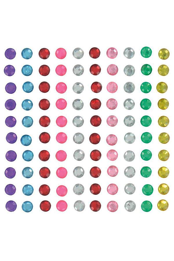 Στρας αυτοκόλλητα 100τεμ ασορτί χρώματα Artemio 11006286