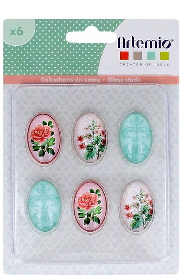 Γυάλινα αυτοκόλλητα διακοσμητικά 6 τεμ Secret Garden Artemio 11060588