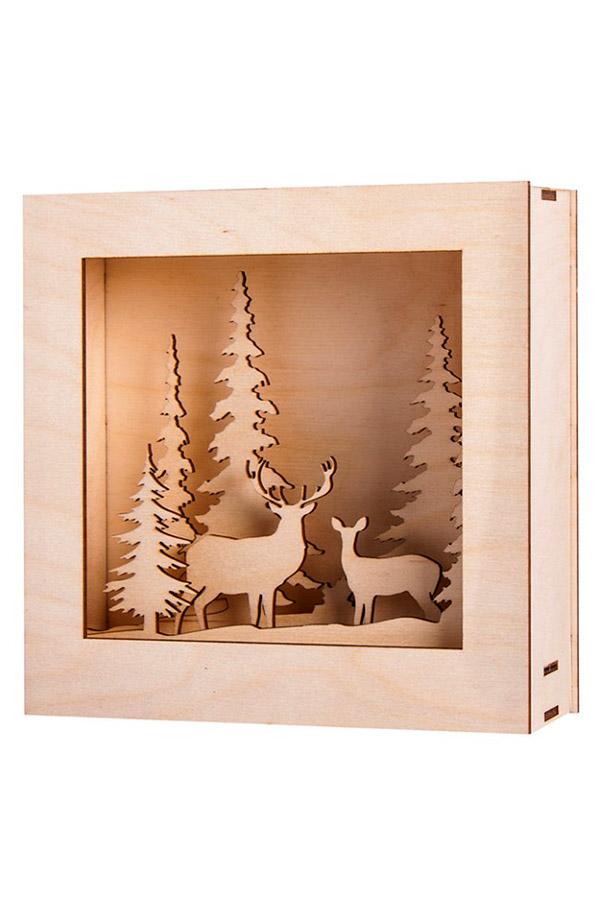 Ξύλινη κατασκευή 3D Χειμώνας Rayher 46308000