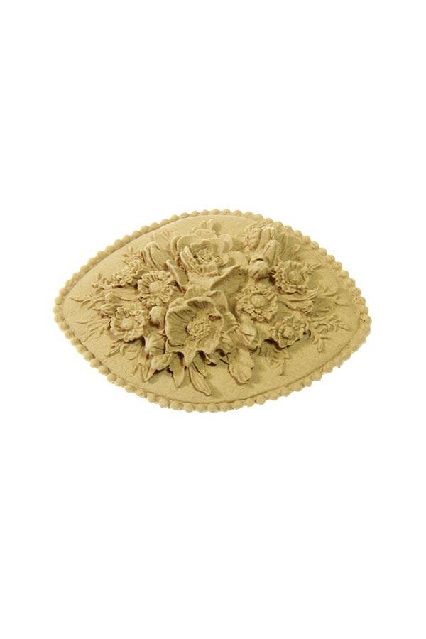 Ξύλινο διακοσμητικό Ανθισμένη μπορντούρα 8x6cm SKAG 199