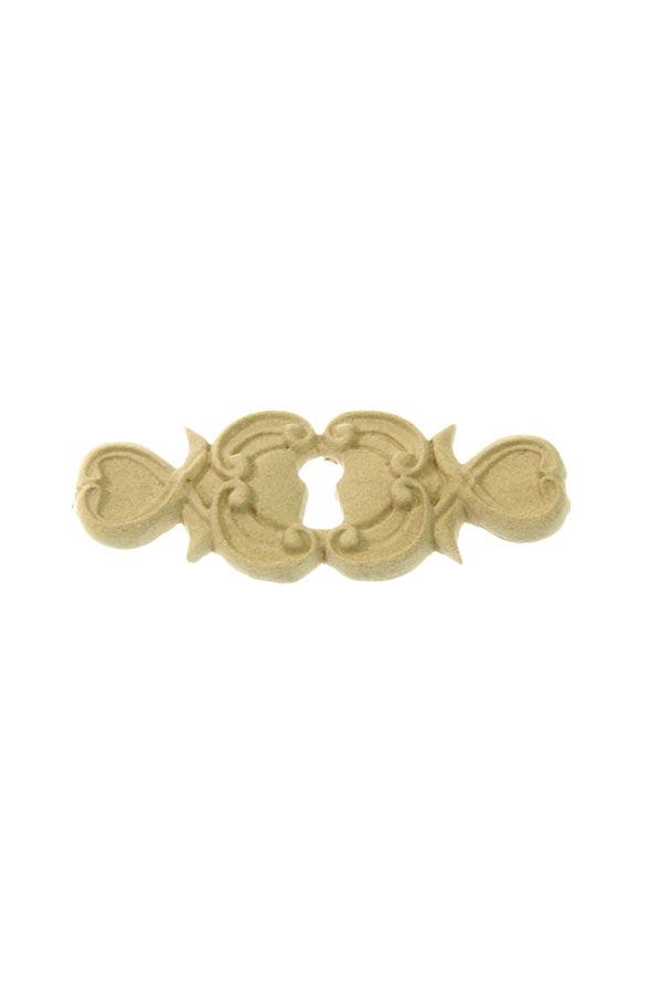 Ξύλινο διακοσμητικό Κλειδαριά με καρδιές 2x8cm SKAG 996