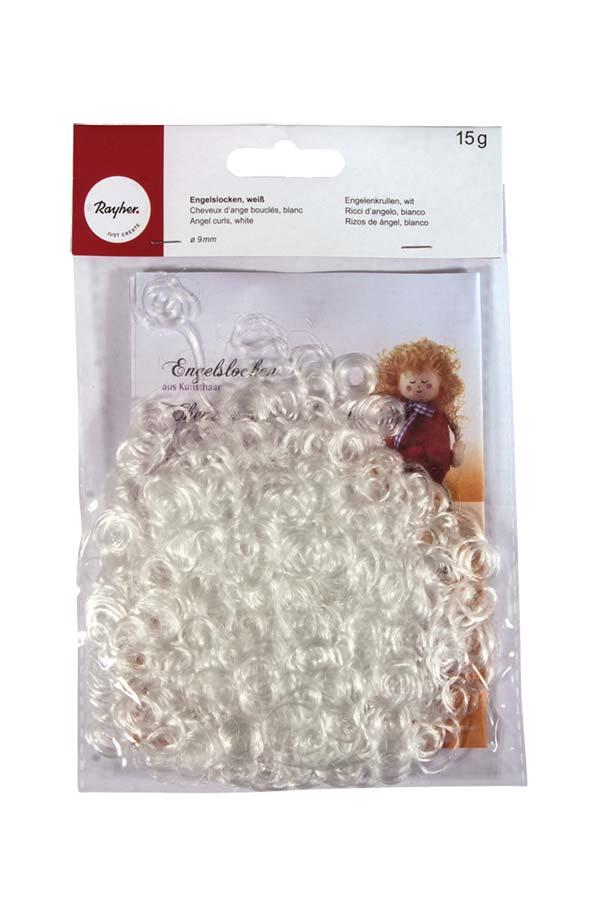 Μαλλιά κούκλας λευκά 15gr Rayher 7600202