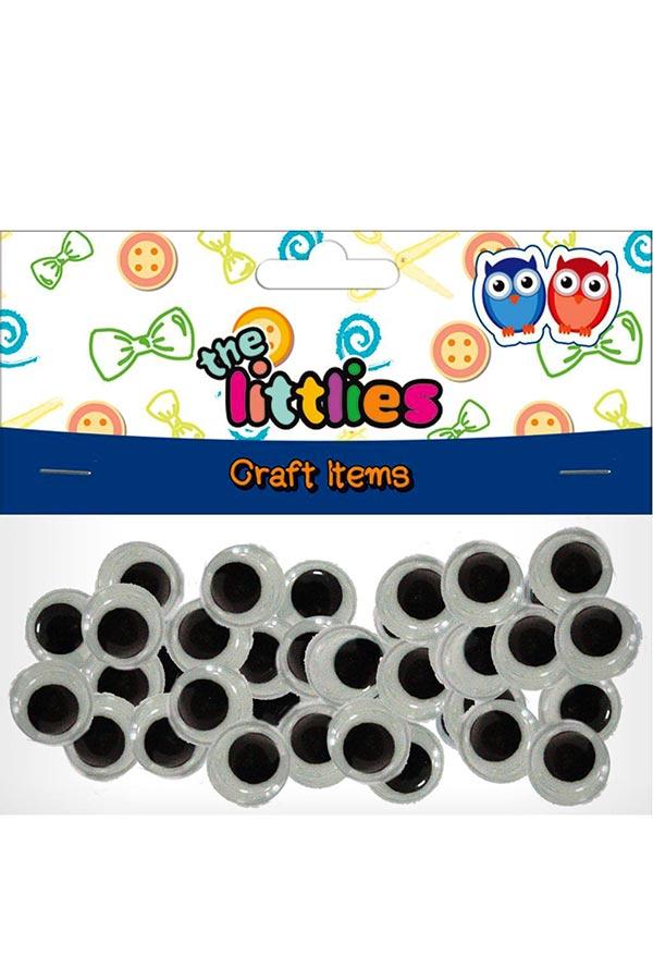 Μάτια κινούμενα στρογγυλά 10mm 100τεμ the littlies 000646599