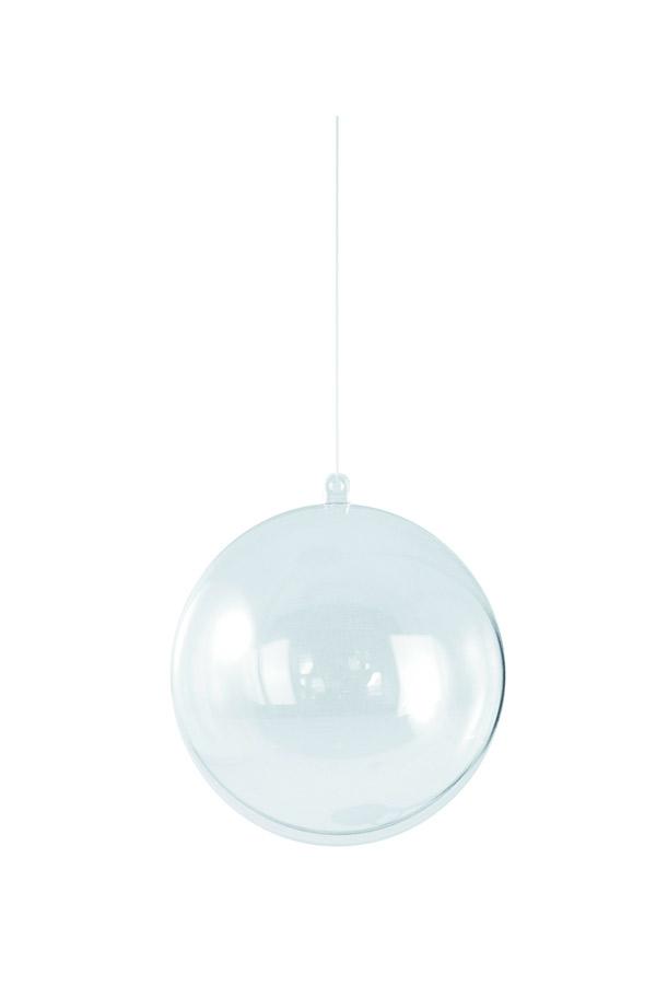 Μπάλα πλαστική διάφανη 14cm Rayher 3909737
