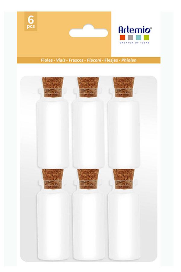 Γυάλινα διακοσμητικά μπουκαλάκια 6τεμ Artemio 11060731