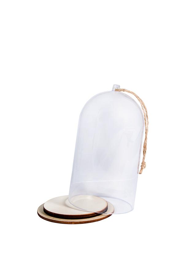 Καμπάνα πλαστική με βάση διάφανη 8cm Rayher 46122000