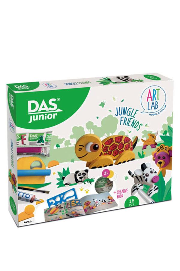 Σετ δημιουργίας με χρωματιστό πηλό 18 τεμάχια GIOTTO ART LAB DAS junior 348500