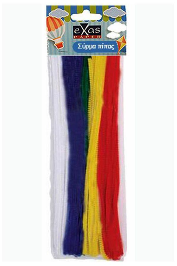 Σύρμα πίπας exas 50 τεμάχια ασορτί χρώματα 000402404