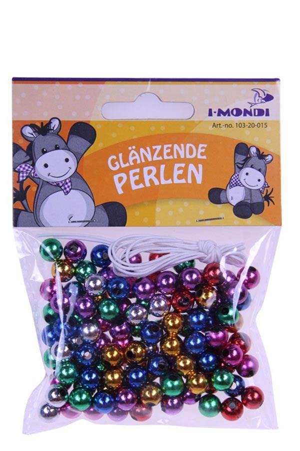 Χάντρες μεταλλικά χρώματα 8mm I-MONDI 10320015