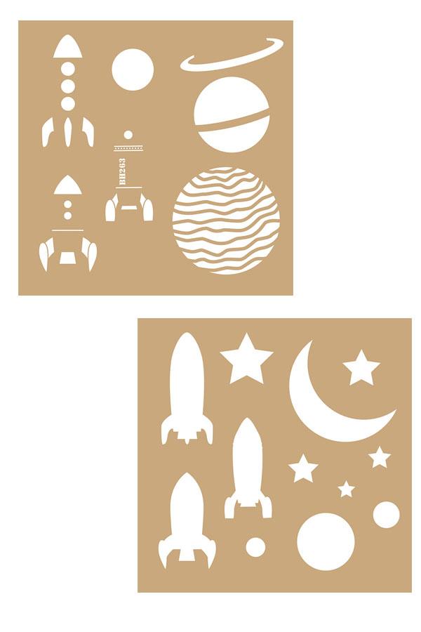 Στένσιλ ζωγραφικής χάρτινο 20x20cm Space Artemio 15075020