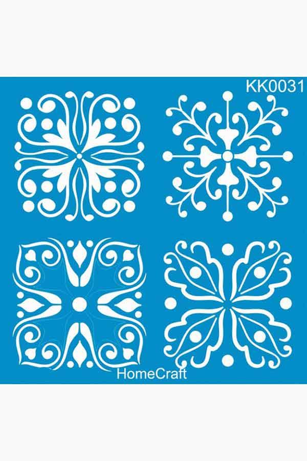 Στένσιλ ζωγραφικής πλαστικό 30x30cm Homecraft μοτίβο KK0031