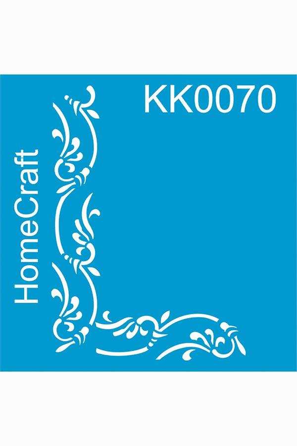 Στένσιλ ζωγραφικής πλαστικό 30x30cm Homecraft Γωνιακή μπορντούρα KK0070