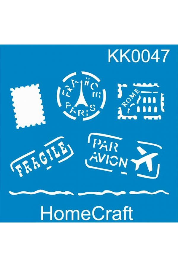 Στένσιλ ζωγραφικής πλαστικό 20x20cm Homecraft Paris KK0047