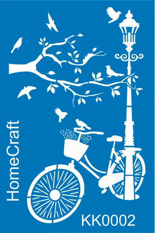 Στένσιλ ζωγραφικής πλαστικό 20x30cm Homecraft Ποδήλατο KK0002