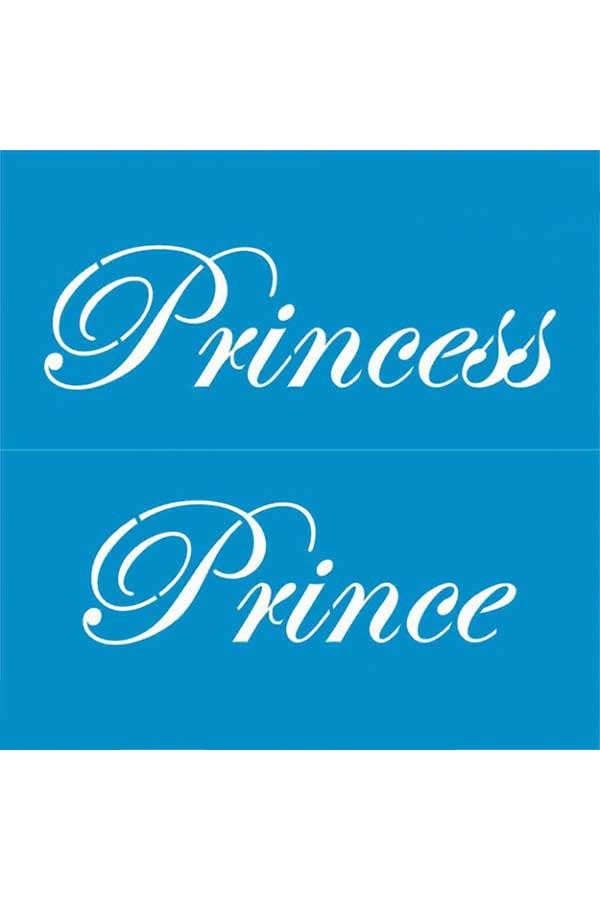 Στένσιλ ζωγραφικής πλαστικό 20x20cm Homecraft Princess - Prince KK0066