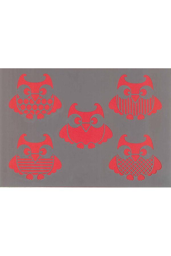 Στένσιλ ζωγραφικής πλαστικό 21x30cm Artemio Κουκουβάγιες 15050001