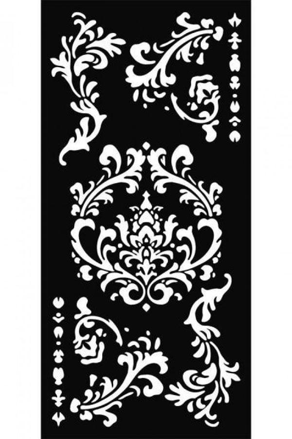 Στένσιλ ζωγραφικής χονδρό πλαστικό 12x25 Stamperia Decori KSTDL19