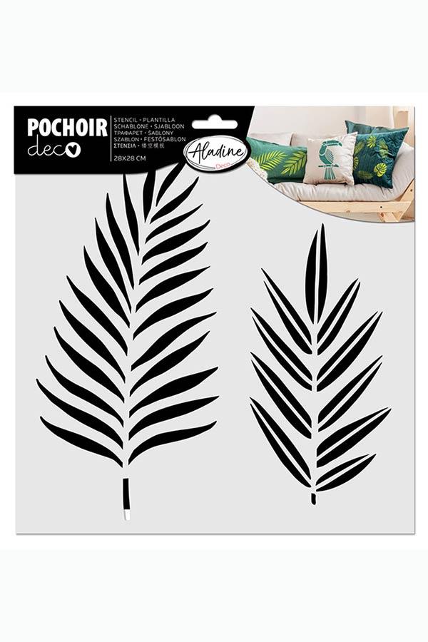 Στένσιλ ζωγραφικής POCHOIR deco Τροπικά Φύλλα ALADINE 81022