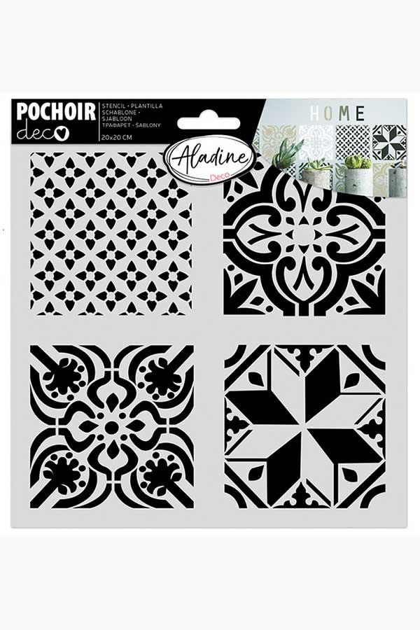 Στένσιλ ζωγραφικής POCHOIR deco Πλακάκια ALADINE 81029
