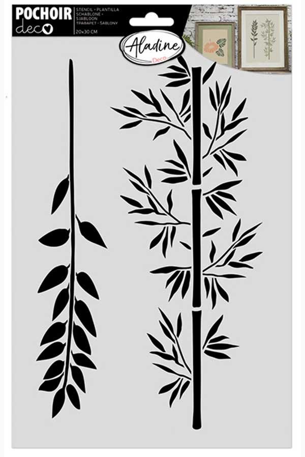 Στένσιλ ζωγραφικής POCHOIR deco Bamboo ALADINE 81046