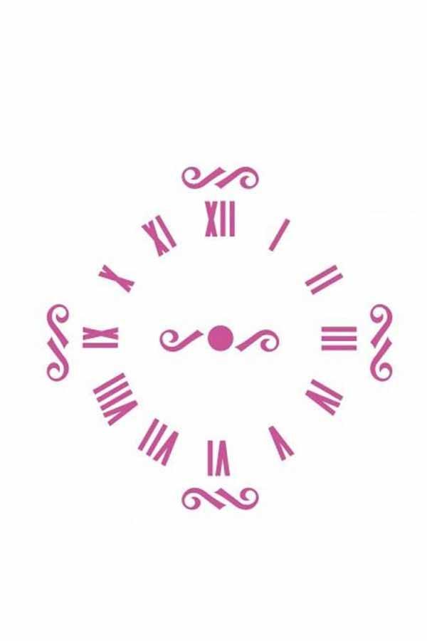 Στένσιλ ζωγραφικής πλαστικό 20x30cm ρολόι με λατινικούς αριθμούς Craftistico CRSA4047
