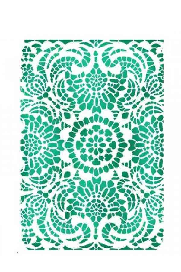 Στένσιλ ζωγραφικής πλαστικό 15x20 Stamperia Laces KSD296